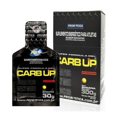 Carb Up Gel Probiótica Banana 30g 10 Sachês