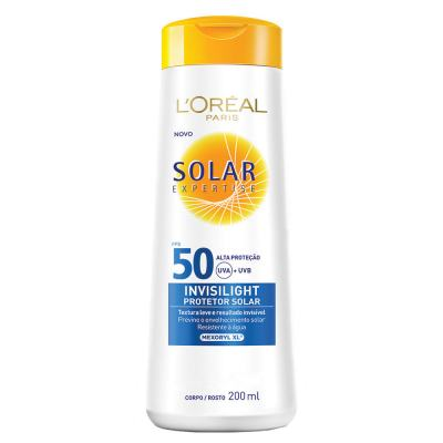 Protetor Solar L'Oréal Paris Solar Expertise Invisilight Fps 50 - 200ml