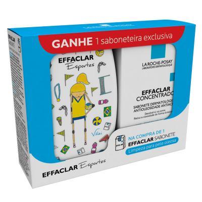 Effaclar Sabonete Concentrado La Roche Posay - Limpador Facial 80g + Saboneteira - Kit