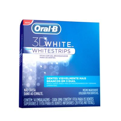 3D White Oral B - Fita Dental Branqueadora - 14 Unidades