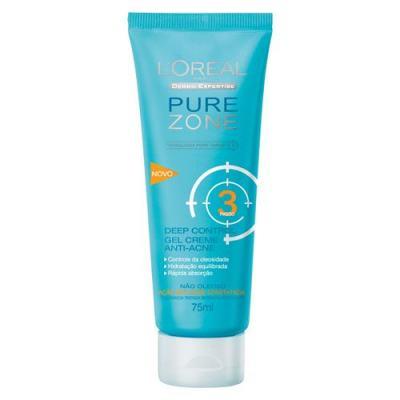 Hidratante Facial L'Oréal Paris Deep-Control Gel Creme Anti-Acne Pure Zone Dermo Expertise - 75ml