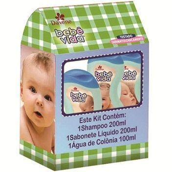 Imagem 1 do produto Kit Davene Cuidado Bebê Vida Shampoo + Sabonete Líquido