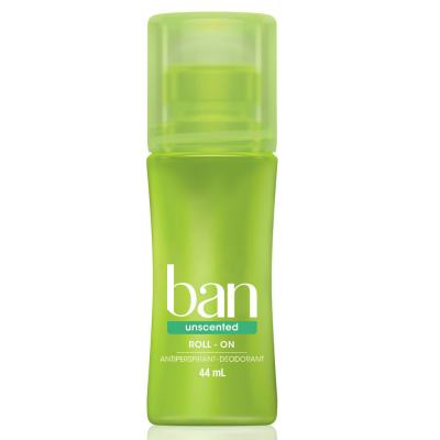 Desodorante Ban Roll On Unscented Sem Perfume 44ml
