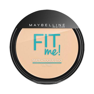 Maybelline Pó Compacto Mate + Toque Liso Fit Me! Cor 100 Claro Sutil