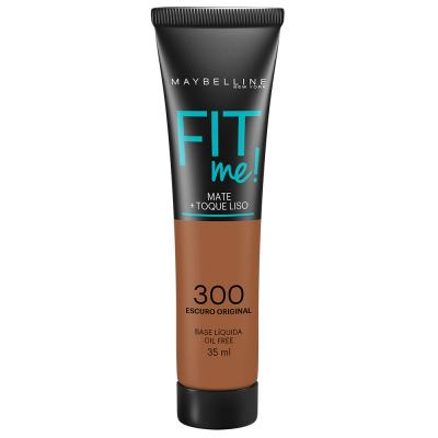 Maybelline Base Líquida Oil Free Fit Me! Cor 300 Escuro Original 35ml
