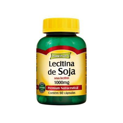 Imagem 1 do produto Lecitina De Soja 1g 60cps - Maxinutri - LECITINA DE SOJA 1G 60CPS