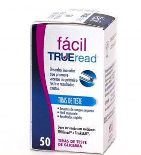 Tira Para Teste De Glicose Fácil True Read Nipro - Caixa com 50 Unidades