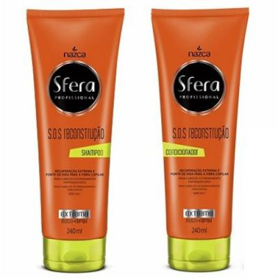 Kit Nazca Sfera S.O.S Reconstrução Shampoo 240ml + Condicionador 240ml