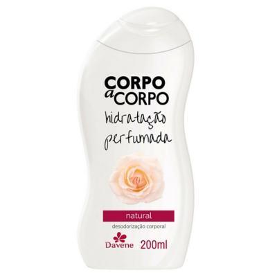 Imagem 2 do produto Loção Hidratante Corpo a Corpo Natural 200ml