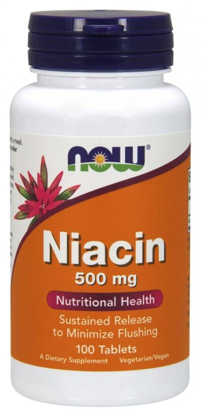 Niacin 500 Mg 250 Tabletes - Now