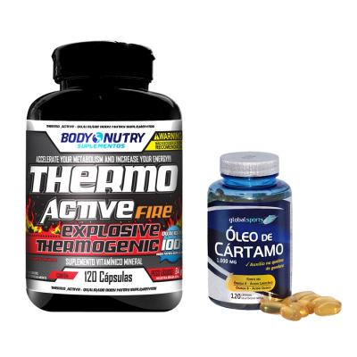 Combo Thermo Active 60cps - Body Nutry + Oleo De Cartamo 120cps - Global Nutrition