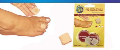 Imagem 1 do produto ANEL DIGITAL DE MALHA COM ALMOFADA DE GEL SG 301 ORTHO PAUHE - P