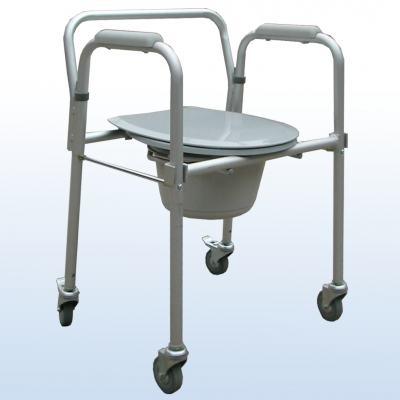 Cadeira de Banho em Aluminio Dobrável A-CMF302W Praxis