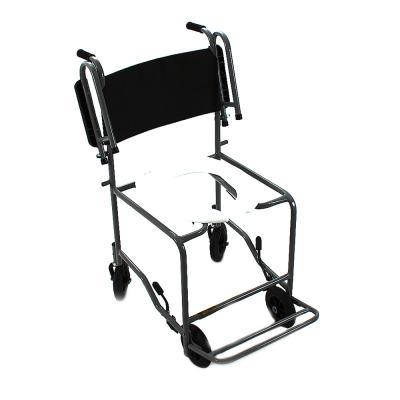 Imagem 1 do produto Cadeira de Banho com Braço Escamoteável Preta 201 CDS - Cadeira de Banho Escamoteável 201 CDS