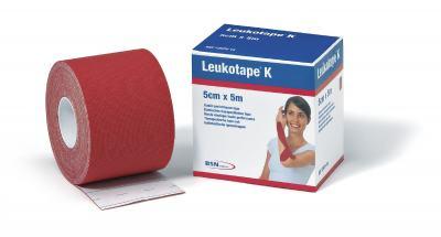 LEUKOTAPE 5CM X 5M VERMELHO BSN MEDICAL
