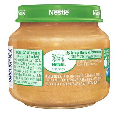 Imagem 3 do produto Papinha Nestlé Legumes com Carne 115g