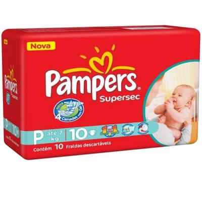 Fralda Pampers Supersec P 10 Unidades