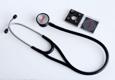 Kit Esteto Cardiológico Preto com Aparelho de Pressão Grafite Premium