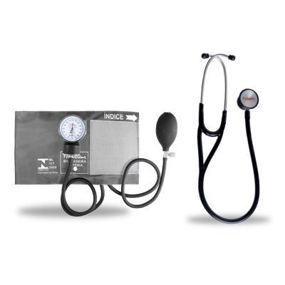 Imagem 6 do produto Kit Esteto Cardiológico Preto com Aparelho de Pressão Grafite Premium