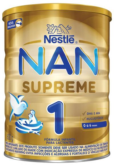 Fórmula Infantil NAN Supreme 1 Lata 800g