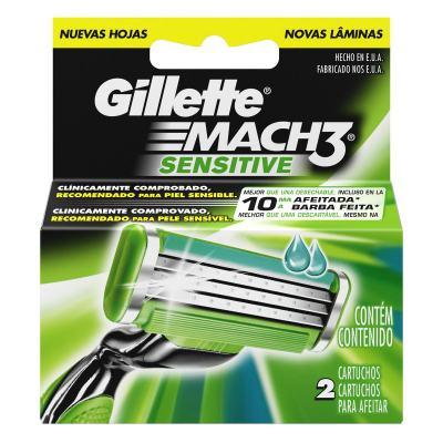 Imagem 1 do produto Carga Gillette Mach 3 Sensitive - 2 Unidades