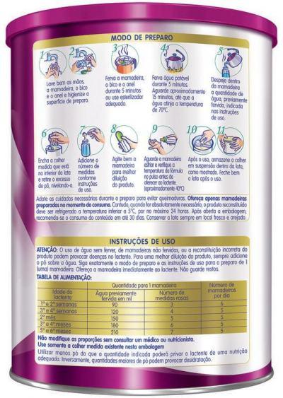 Imagem 2 do produto Fórmula Infantil NAN COMFOR 1 Lata 800g