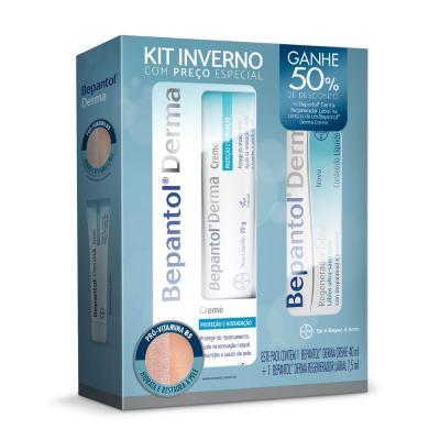 Kit Bepantol Inverno Derma creme 40ml + Derma Regenerador Labial 7,5ml