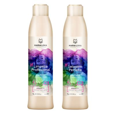 Kit Escova Progressiva MARIA LOKA #SelagemPerfeita 2x1000ml