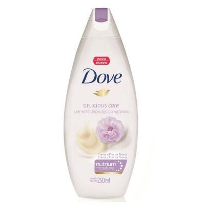 Sabonete Liquido Dove Delicious Care Creme e Flor Peônia 250ml