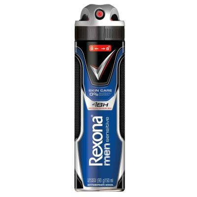 Desodorante Aerosol Rexona Men Sensitive Skin Care 150ml