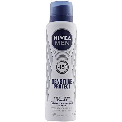 Desodorante Aerosol Nivea Sensitive Protect Masculino 90g