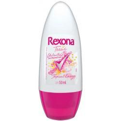 Desodorante Rexona Roll On Teens Tropical Energy Feminino 50g