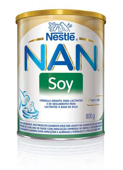 Imagem 1 do produto Fórmula Infantil NAN Soy Lata 800g