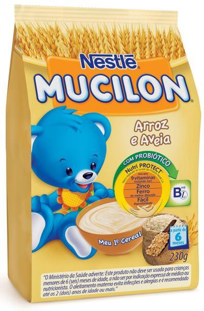 Imagem 1 do produto Cereal Infantil Nestlé Mucilon Arroz e Aveia 230g