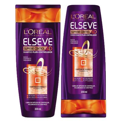 Kit Shampoo + Condicionador L'Oréal Paris Elseve Supreme Control 4d - Kit