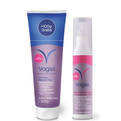 Kit Vagisil Sabonete Líquido Íntimo Feminino Prevent Plus + Desodorante Íntimo 60ml