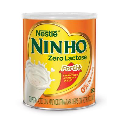 Imagem 1 do produto Leite em Pó Ninho Forti+ Zero Lactose Lata 380g