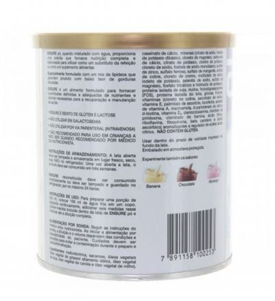 Imagem 2 do produto Complemento Alimentar Ensure Baunilha 400g