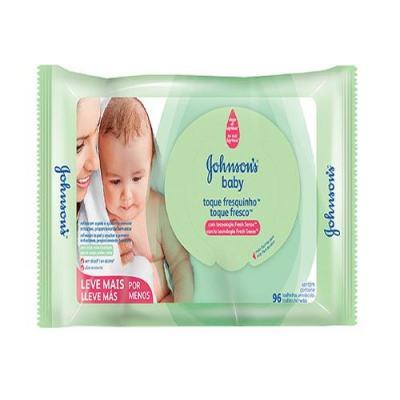Lenço Umedecido Johnson´s Baby Toque Fresquinho 96 Unidades