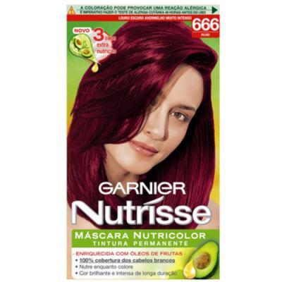 Tintura Garnier Nutrisse 666 Rubi Louro Escuro Avermelhado Muito Intenso