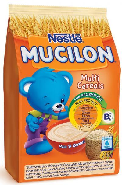 Imagem 1 do produto Cereal Infantil Nestlé Mucilon Multicereais 230g
