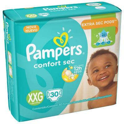 Fralda Descartável Pampers Confort Sec XXG 30 Unidades