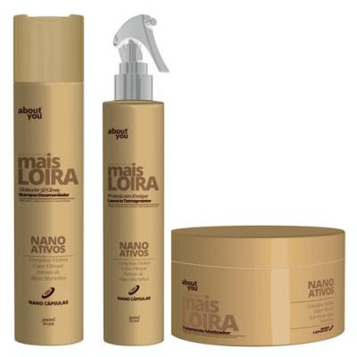 Kit Shampoo + Protetor Térmico + Máscara About You Mais Loira - Kit