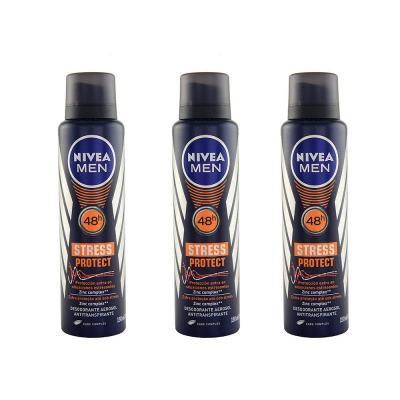 Desodorante Nivea Stress Protect Masculino Aerosol 90g 3 Unidades