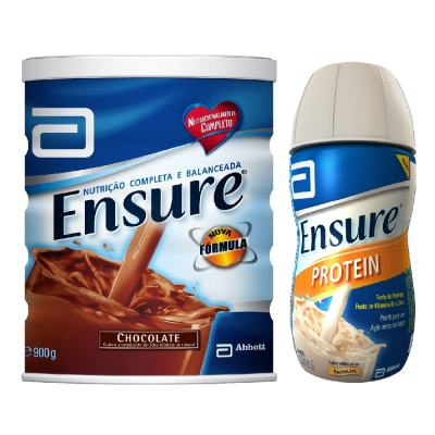 Complemento Alimentar Ensure Chocolate 900g + Ensure Protein Baunilha 220ml
