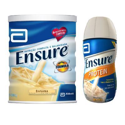 Imagem 1 do produto Complemento Alimentar Ensure Banana 900g + Ensure Protein Baunilha 220ml