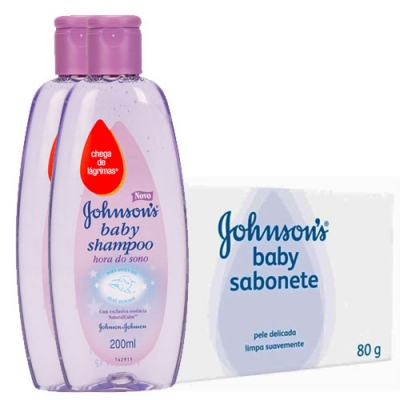 Shampoo Johnson's Baby Hora do Sono 200ml + Sabonete Regular 80g
