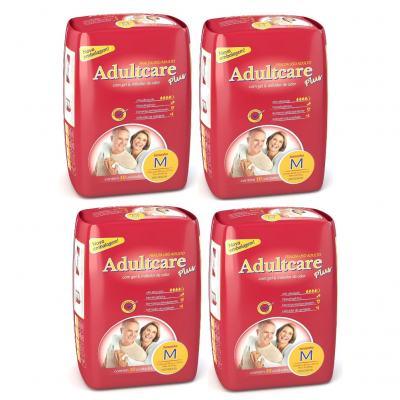 Imagem 1 do produto Fralda Geriátrica Adultcare M 10 Unidades 4 Pacotes