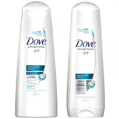 Imagem 1 do produto Shampoo + Condicionador Dove Hidratação Intensa 400ml