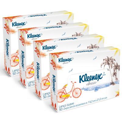 Lenço de Papel Kleenex Box Misto 200 Folhas